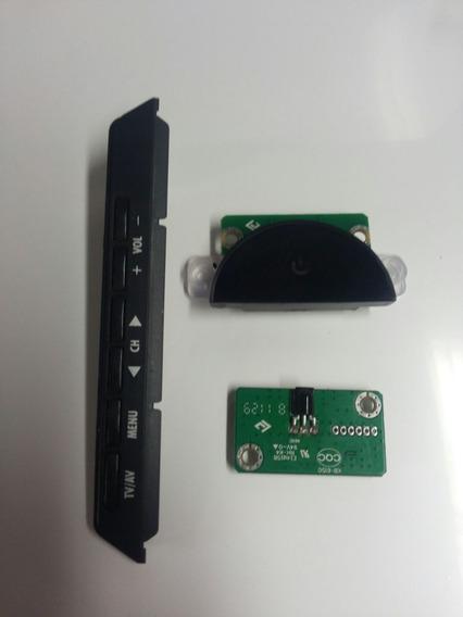 Teclado Funções + Sensor + Botão Power Tv Sti Le4050(b) Fda