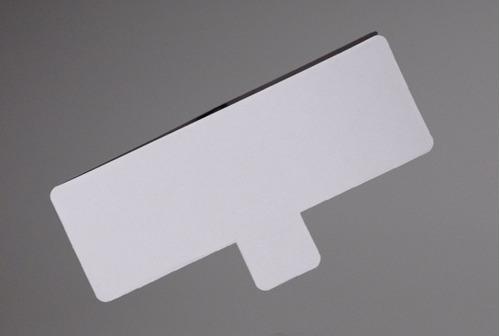 Base Rectangular Pestaña Plastificado Ppm Blanco Mate (200u)