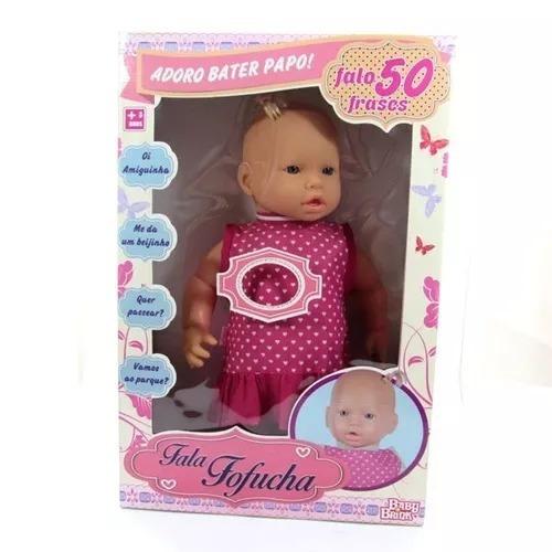Boneca Fala Fofucha - Fala 50 Frases - Baby Brink