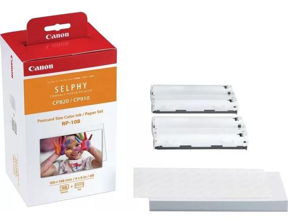 Papel Canon Rp108 Para Impressoras Selphy (apenas Os Papeis)