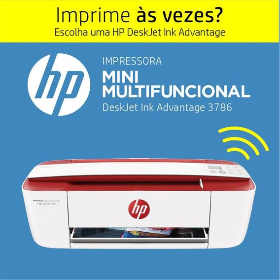 Multifuncional Wireless Deskjet Ink Advantage 3786 Vermelha