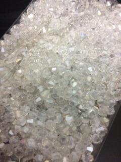 500 Pedras Cristal Swarovski 4mm Branca Boreal Veja + Cores