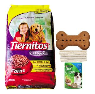 Comida Perro Adulto Tiernitos Carne 25 Kg + Regalo + Envío