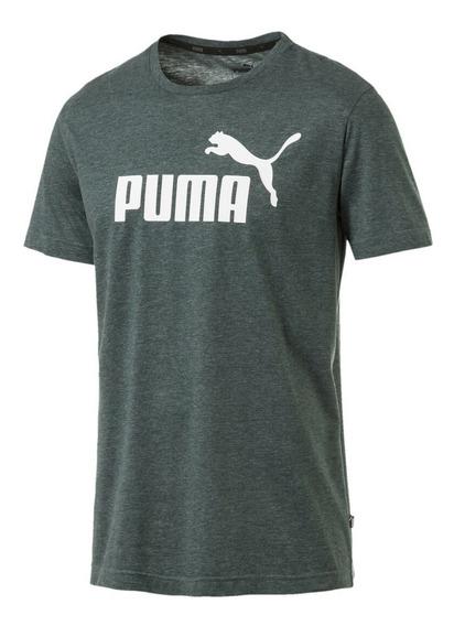 Remera Puma Ess+ Heather Tee 852419 30 Verde Oscuro Hombre