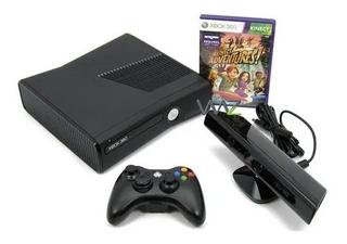 Xbox 360 Com 4gb + Controle Com Fio De 3m + Kinect + 9 Jogos