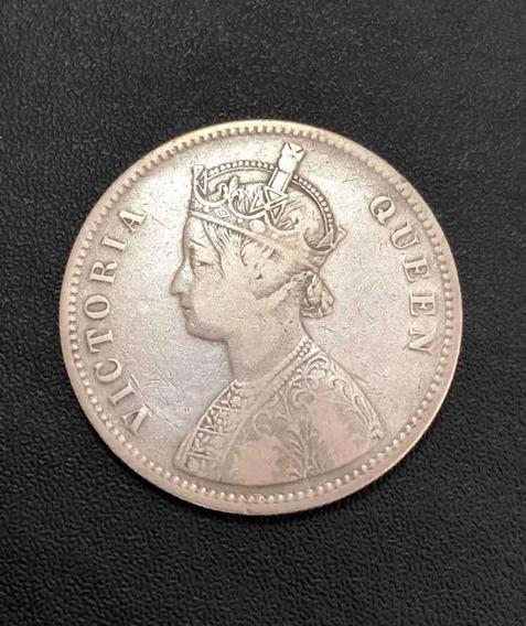 Moeda Antiga 1875 India 1 Rupia