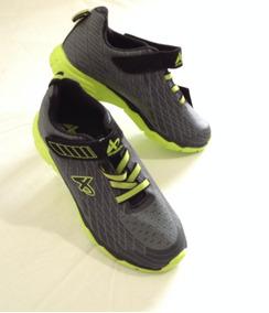 17 Zapatos Deportivo Niños Marca Athletech Gris N° 2 Import
