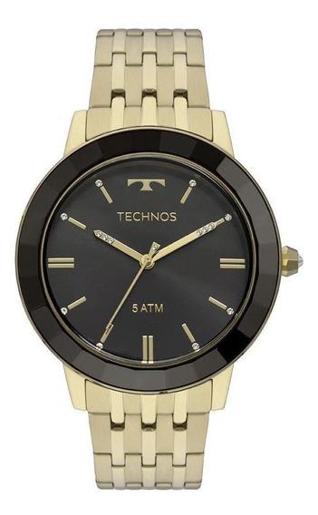 Relógio Technos Feminino Crystal Dourado Vh31aab4p
