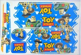Cartela Adesivo Toy Story Bike 12/14/16/20 Infantil