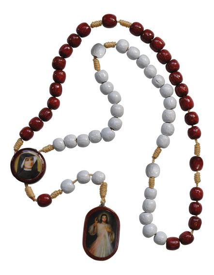 Terço Da Divina Misericórdia Com Imagem De Jesus