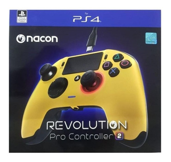 Control Ps4 Nacon Revolution Pro Modelo V2 Amarillo