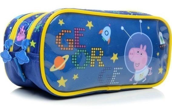 Estojo Duplo Escolar Peppa George Galaxy Xeryus - 5535