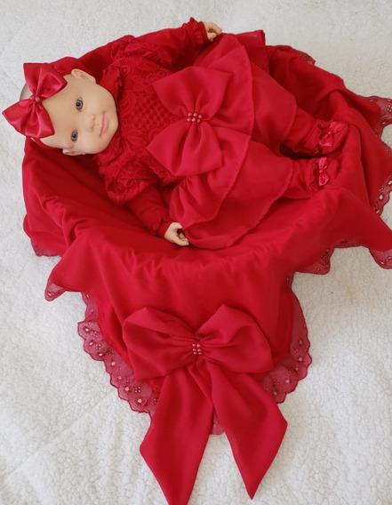 Saidas De Maternidade Vermelha Para Menina Luxuosa Laços