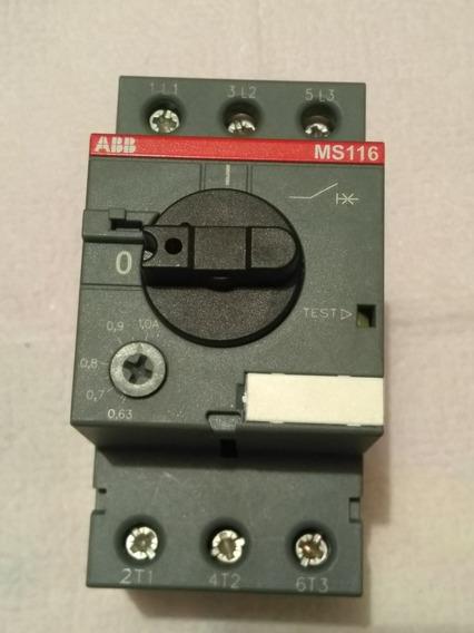 Guardamotor Ms116-1 Abb 1sam250000r1005, 0.63-1amp