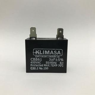 Capacitor P/ Ventilador Ar Cond 3uf X 450vac +- 5% Cbb61