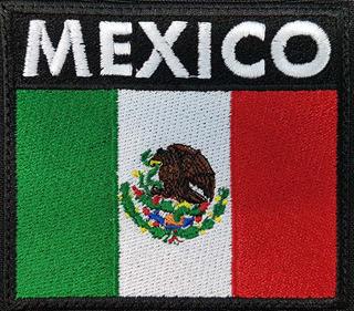 bcf419d8e3ee 4 Parche Velcro Bandera Mexico - Coleccionables en Mercado Libre México