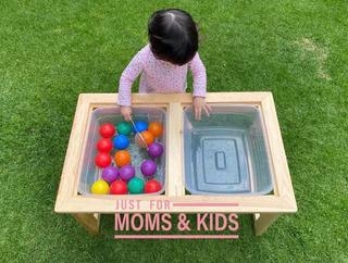 Mesa Sensorial Madera Niños 1 A 5 Años