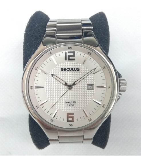 Relógio Masculino Seculus 28167g0sbna2 Prata- Leia O Anúncio