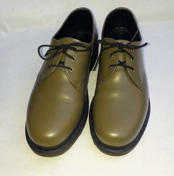 Zapatos Dr Martens Talle 43 Eu 10 Usa - Color Oliva Cuero