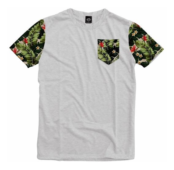 Camiseta Bolso Mangas Floral Nature Good Vibes Personalizada