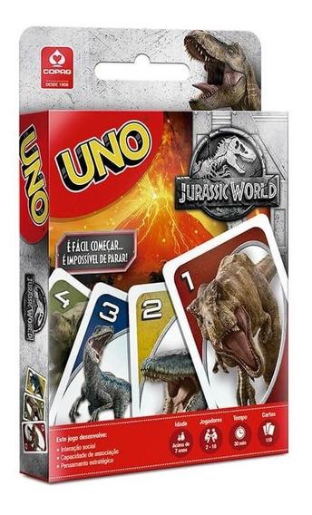 Jogo De Cartas Uno Jurassic World 110 Cartas Original Copag