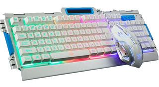 Combo Teclado Mouse Gamer F Mecanico Retroiluminado Envios