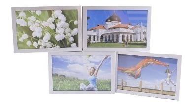 Multi Porta Retrato Articulado De Alumínio 4 Fotos 10x15cm