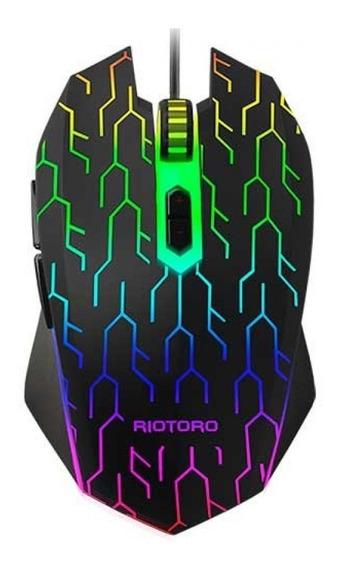 Mouse Gamer 6 Botões 3200 Dpi Multímidia Iluminado Usb
