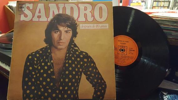 Sandro 10 Años Despues Lp Disco Vinilo Ex