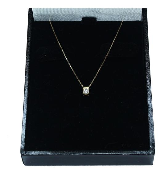 Pocao2005- Colar De Ouro 18k750 Diamante 12x S/j Ft/gt C359