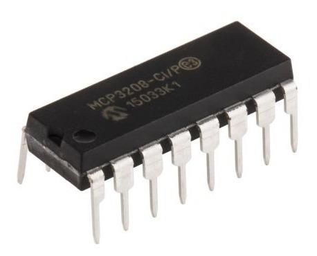 Mcp3208 - Conversor Analógico/digital De 12-bit (5 Peças)