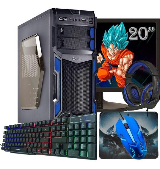 Pc Gamer Completo Tela De 20 / Gt 1030 2gb /500gb Hd + Jogos