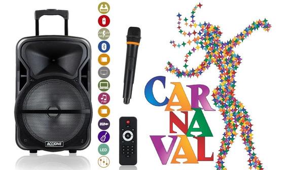 Melhor Caixa De Som Custo X Beneficio Com Rodinhas Cam 600 Bt Bluetooth Microfone Frete Grátis