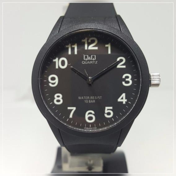 Relógio Feminino Masculino Borracha C/ Números Verdes Q&q