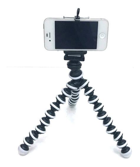 Mini Tripé Flexível Ajustável Regulador Móv P/celulares F112