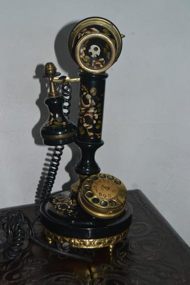 Telefone Antigo Modelo Castiçal Em Uso (funcionando)