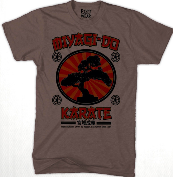 Miyagi Do Karate Kid Playera Hombre Café Rott Wear
