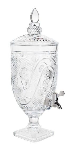 Suqueira Dispenser De Cristal P/bebida C/pé Glory 4l Wolff