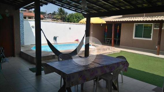 Casa Linear De 3 Quartos Em Cond. Fechado, No Jóquei Clube, São Gonçalo. - Ca1560