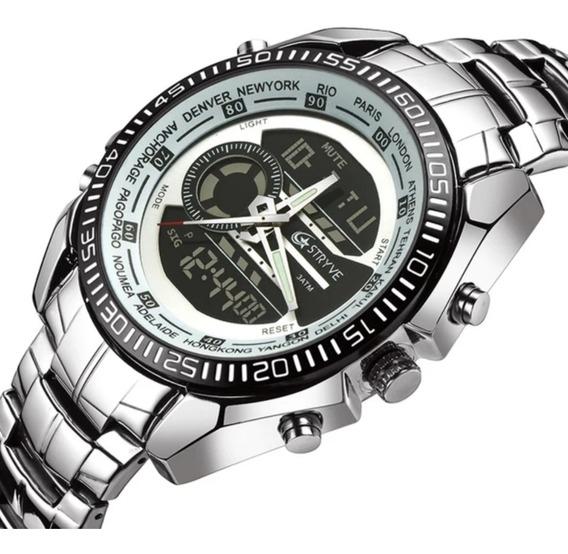 Relógio Masculino Stryve Esportivo Digital E Analógico