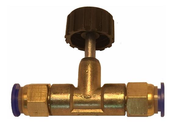 Registro Agulha Válvula Reguladora Ar, Água, Gazes Pu 6mm.