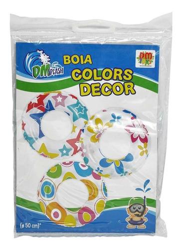 Boia Inflável De Cintura Piscina Praia Colors 50cm