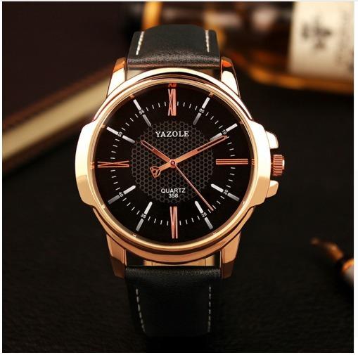 Relógio Masculino Yazole Quartzo Marca De Luxo