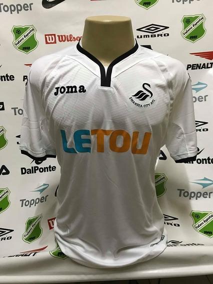 Camisa Oficial Swansea Home Joma Tamanho Gg