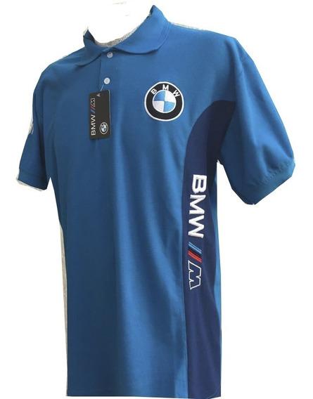 Playera Bmw Azul Celeste Con Azul Rey