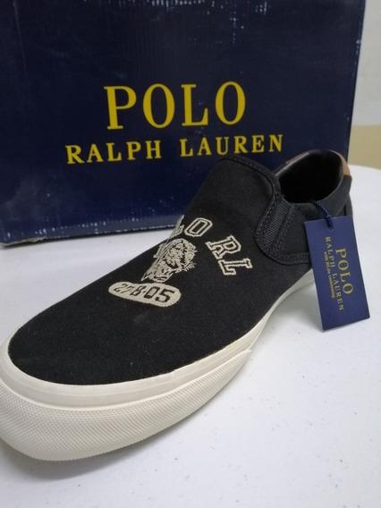 Exclusivos Tenis Polo Ralph Lauren Thompson Negros 29cm