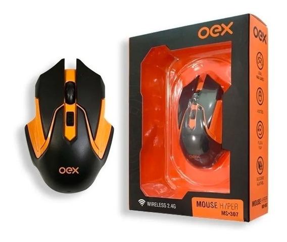 Mouse Óptico Sem Fio 2400 Dpi Hyper Ms 307 Oex