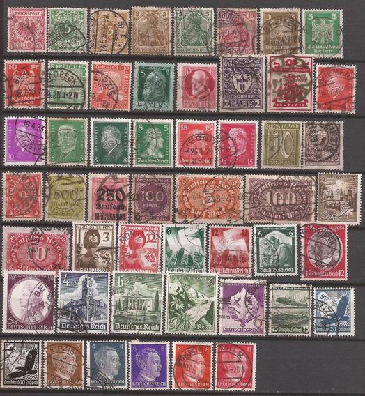 Alemania 50 Sellos Usados 15 U$d De Catalogo - 205
