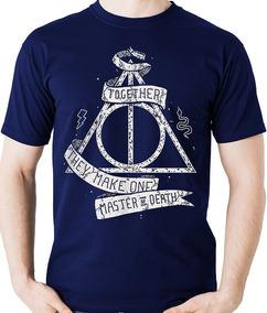 Camiseta Harry Potter Relíquias Da Morte Geek Camisa Blusa