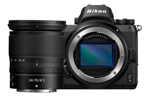 Nikon Z6 24-70mm Kit sin espejo color negro
